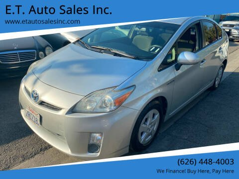 2010 Toyota Prius for sale at E.T. Auto Sales Inc. in El Monte CA