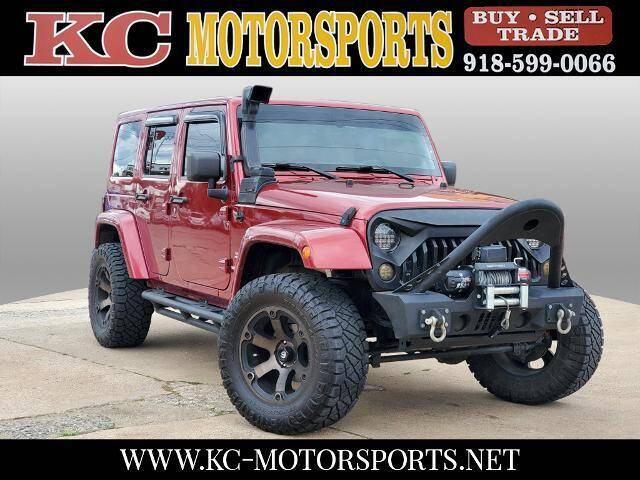 2011 Jeep Wrangler Unlimited for sale at KC MOTORSPORTS in Tulsa OK