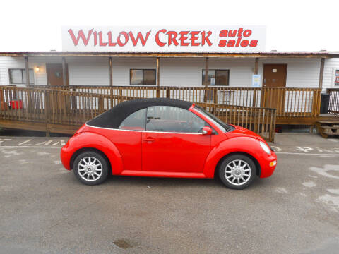 2005 Volkswagen New Beetle Convertible for sale at Willow Creek Auto Sales in Knoxville TN
