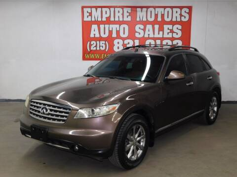 2006 Infiniti FX35 for sale at EMPIRE MOTORS AUTO SALES in Philadelphia PA