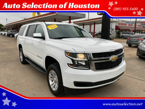 2019 Chevrolet Suburban for sale at Auto Selection of Houston in Houston TX