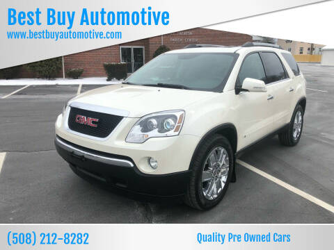 2010 GMC Acadia for sale at Best Buy Automotive in Attleboro MA