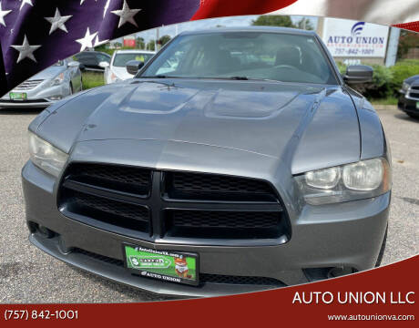 2012 Dodge Charger for sale at Auto Union LLC in Virginia Beach VA
