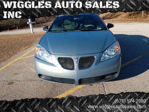 2007 Pontiac G6 for sale at WIGGLES AUTO SALES INC in Mableton GA