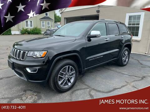 2018 Jeep Grand Cherokee for sale at James Motors Inc. in East Longmeadow MA