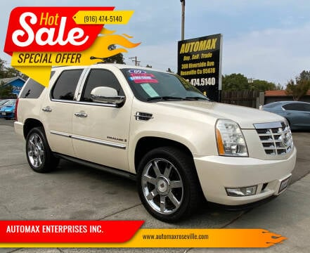 2009 Cadillac Escalade for sale at AUTOMAX ENTERPRISES INC. in Roseville CA