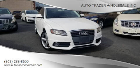 2012 Audi A4 for sale at Auto Trader Wholesale Inc in Saddle Brook NJ