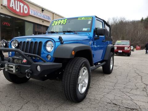 2016 Jeep Wrangler for sale at Auto Wholesalers Of Hooksett in Hooksett NH