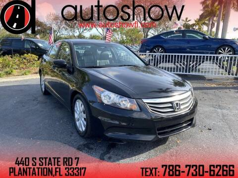 2012 Honda Accord for sale at AUTOSHOW SALES & SERVICE in Plantation FL