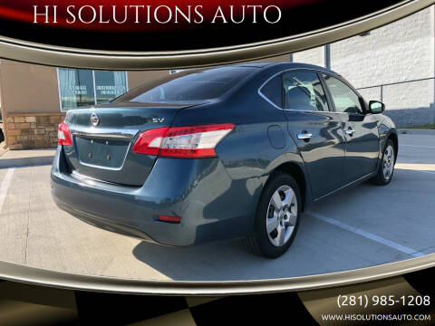 2015 Nissan Sentra for sale at HI SOLUTIONS AUTO in Houston TX
