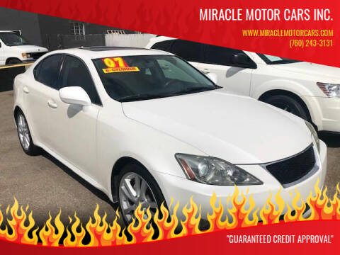 2007 Lexus IS 250 for sale at Miracle Motor Cars Inc. in Victorville CA