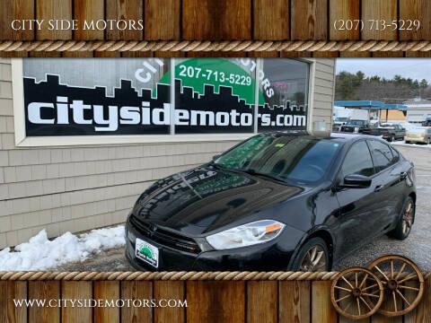 2013 Dodge Dart for sale at CITY SIDE MOTORS in Auburn ME