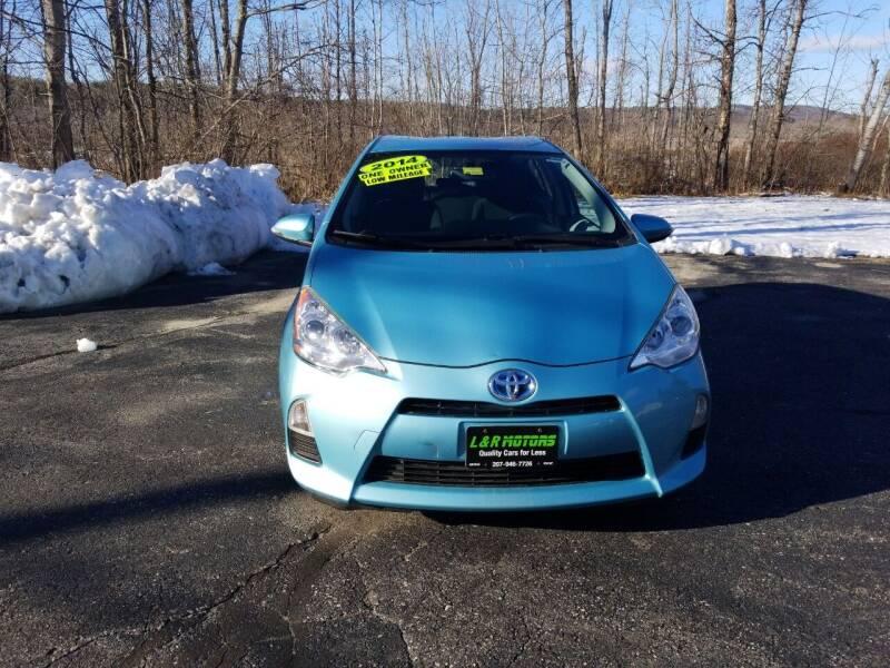 2014 Toyota Prius c for sale at L & R Motors in Greene ME