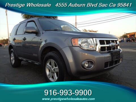 2008 Ford Escape Hybrid for sale at Prestige Wholesale in Sacramento CA
