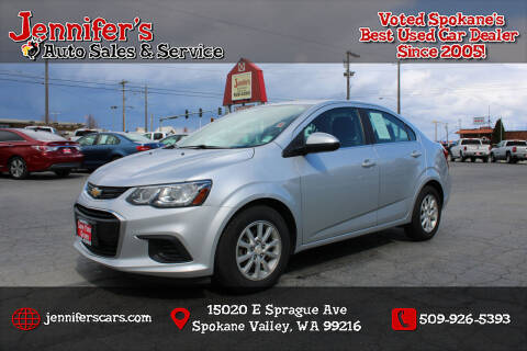 2018 Chevrolet Sonic for sale at Jennifer's Auto Sales in Spokane Valley WA