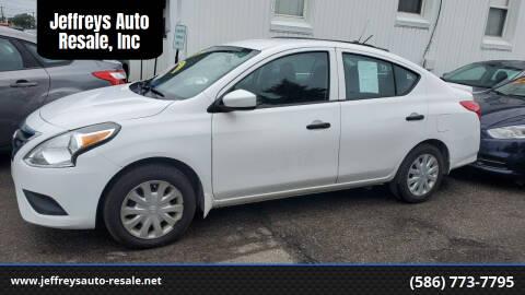 2017 Nissan Versa for sale at Jeffreys Auto Resale, Inc in Clinton Township MI