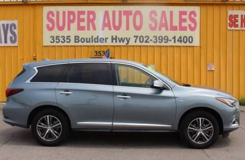 2018 Infiniti QX60 for sale at Super Auto Sales in Las Vegas NV