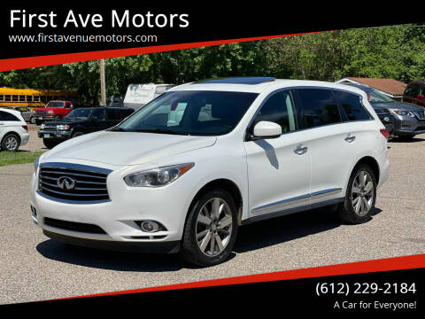 2013 Infiniti JX35 for sale at First Ave Motors in Shakopee MN
