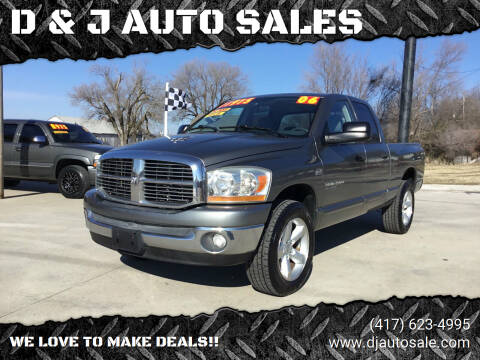 2006 Dodge Ram Pickup 1500 for sale at D & J AUTO SALES in Joplin MO