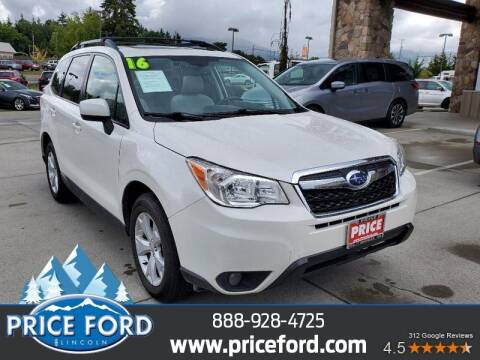 2016 Subaru Forester for sale at Price Ford Lincoln in Port Angeles WA