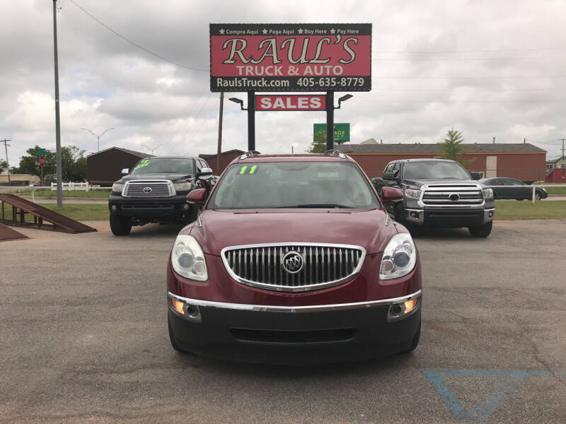 2011 Buick Enclave for sale at RAUL'S TRUCK & AUTO SALES, INC in Oklahoma City OK