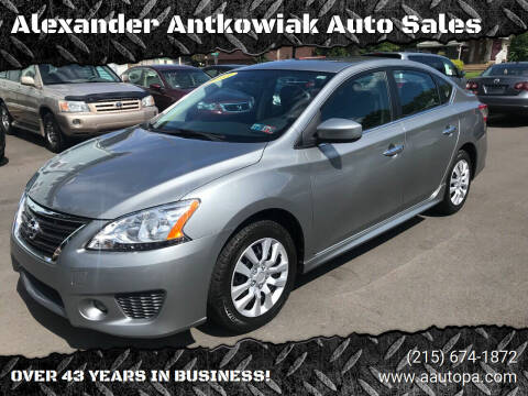 2013 Nissan Sentra for sale at Alexander Antkowiak Auto Sales in Hatboro PA
