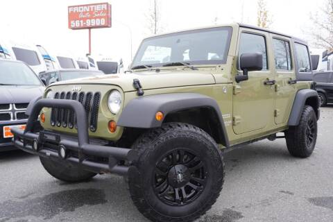 2013 Jeep Wrangler Unlimited for sale at Frontier Auto & RV Sales in Anchorage AK