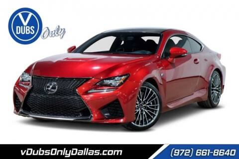 2017 Lexus RC F for sale at VDUBS ONLY in Dallas TX