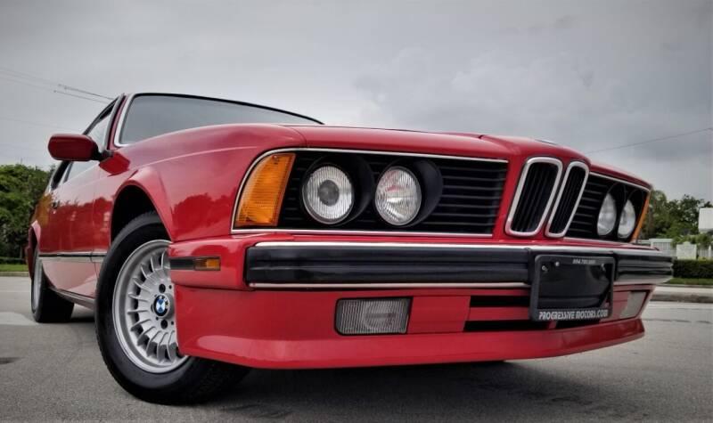 1989 BMW 6 Series for sale at Progressive Motors in Pompano Beach FL