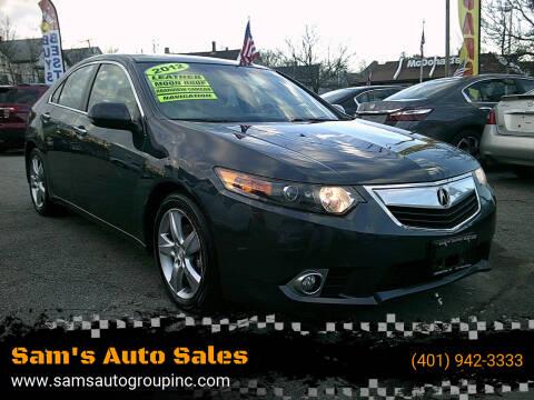 2012 Acura TSX for sale at Sam's Auto Sales in Cranston RI