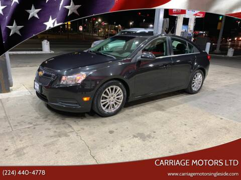 2011 Chevrolet Cruze for sale at Carriage Motors LTD in Ingleside IL