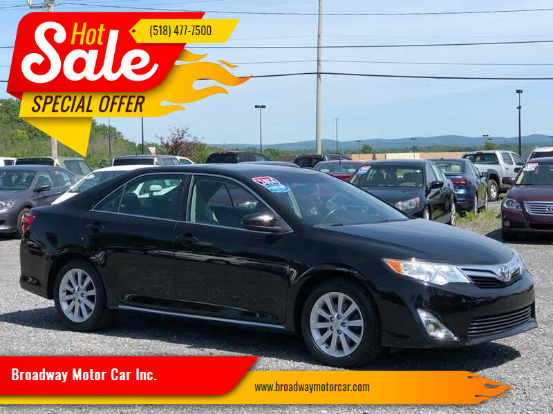 2014 Toyota Camry for sale at Broadway Motor Car Inc. in Rensselaer NY