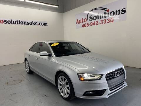 2013 Audi A4 for sale at Auto Solutions in Warr Acres OK