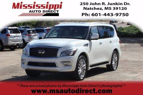 2016 Infiniti QX80 for sale at Auto Group South - Mississippi Auto Direct in Natchez MS