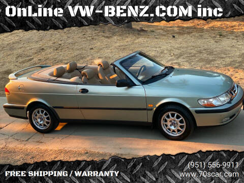 2000 Saab 9-3 for sale at OnLine VW-BENZ.COM Auto Group in Riverside CA