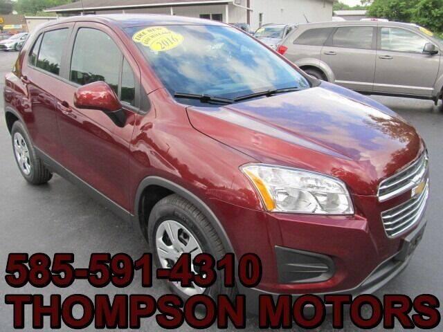 2016 Chevrolet Trax for sale at Thompson Motors LLC in Attica NY