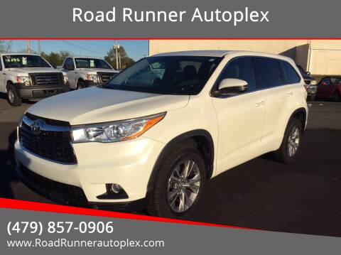 2014 Toyota Highlander for sale at Road Runner Autoplex in Russellville AR