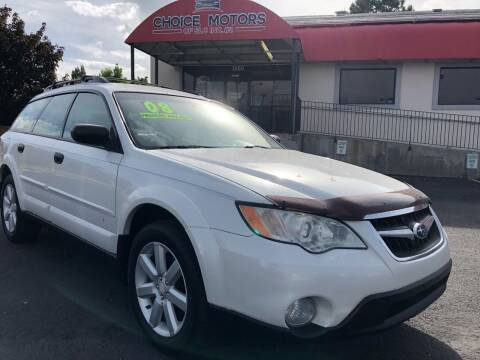2008 Subaru Outback for sale at Choice Motors of Salt Lake City in West Valley  City UT