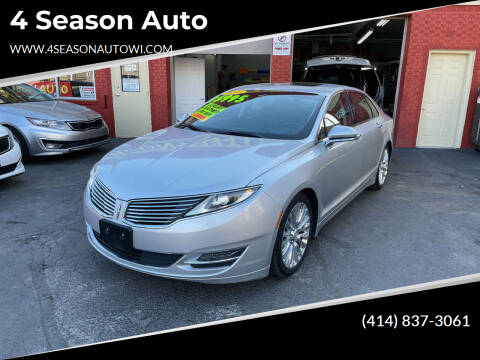 2016 Lincoln MKZ for sale at 4 Season Auto in Milwaukee WI