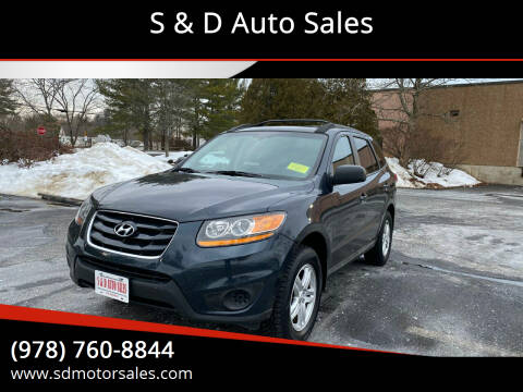 2010 Hyundai Santa Fe for sale at S & D Auto Sales in Maynard MA
