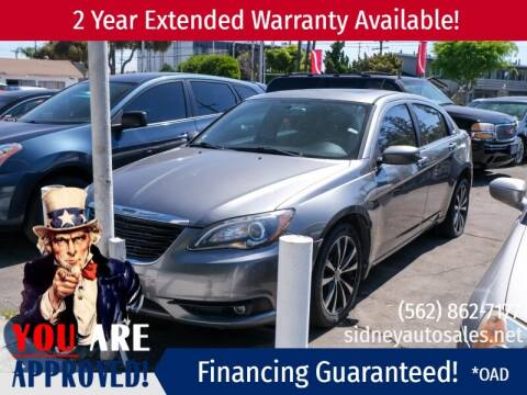 2012 Chrysler 200-Series for sale at Sidney Auto Sales in Downey CA