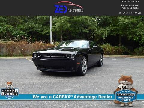 2016 Dodge Challenger for sale at Zed Motors in Raleigh NC