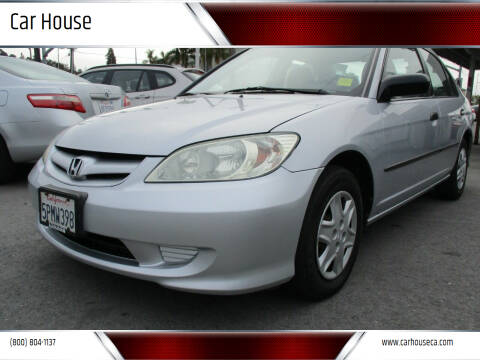 2005 Honda Civic for sale at Car House in San Mateo CA