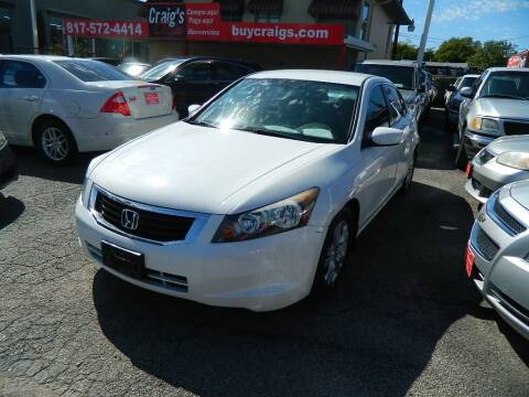 2009 Honda Accord for sale at Craig's Classics in Fort Worth TX