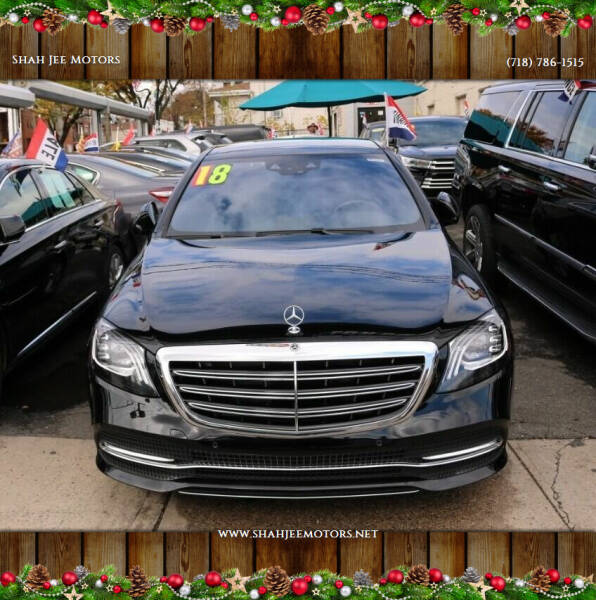 2018 Mercedes-Benz S-Class for sale at Shah Jee Motors in Woodside NY