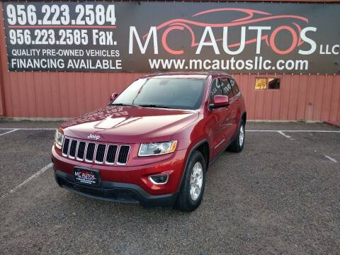 2015 Jeep Grand Cherokee for sale at MC Autos LLC in Pharr TX