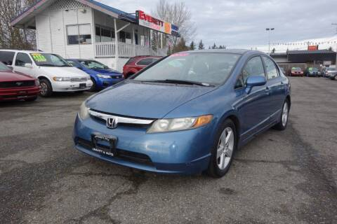2006 Honda Civic for sale at Leavitt Auto Sales and Used Car City in Everett WA
