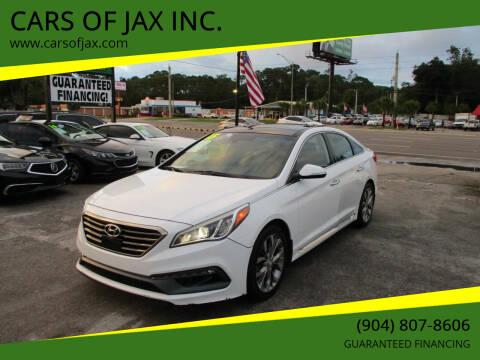 2015 Hyundai Sonata for sale at CARS OF JAX INC. in Jacksonville FL