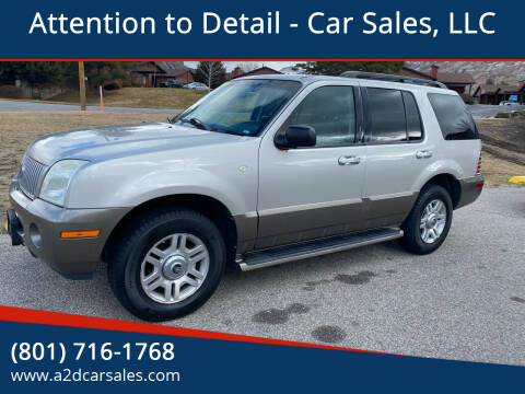 2004 Mercury Mountaineer for sale at Attention to Detail - Car Sales, LLC in Ogden UT