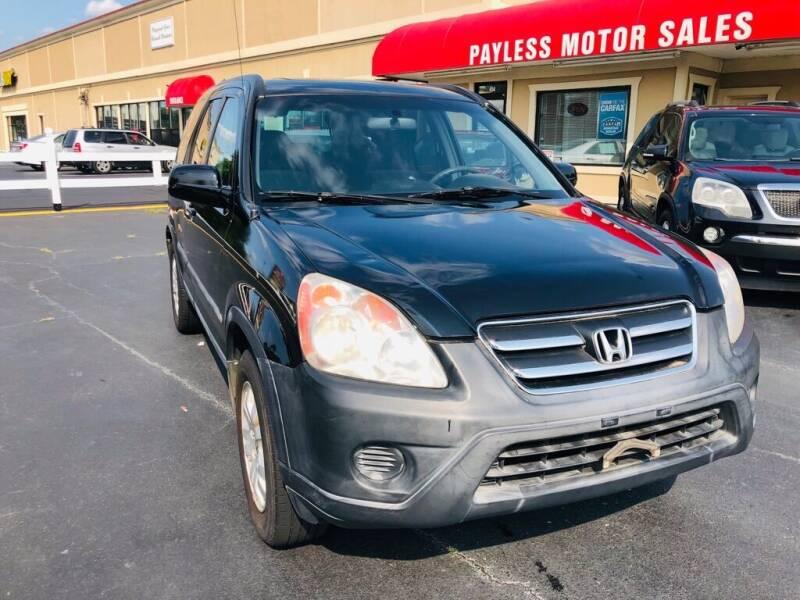 2006 Honda CR-V for sale at Payless Motor Sales LLC in Burlington NC